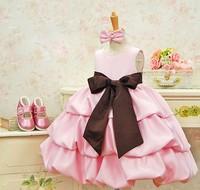 retail FREE SHIPPING,NEW,2014 children dress girls High-grade Princess dress Big bowknot dresse for summer