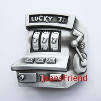 Casino lucky slot machine antique fashion Men's Western Belt Buckle Nice Gift For Him Christmas New Year Valentines