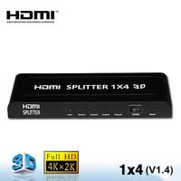 Ver 1.4  4 Port HDMI Splitter  Full HD 1080P