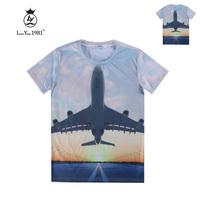 [Magic] Dusk Plain 3d t shirt men's short sleeve tshirt casual cotton t-shirt both side printed tee LY238 free shipping