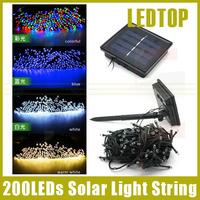 Outdoor Solar Led Fairy Light Christmas String Lights Blue White multicolor Party Garden Lamps strip 22m 200 led