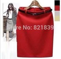2015 Women Summer Vintage High Waist Elastic Work Party XL Slim Pencil Skirt professional short skirt a-line skirt Free shipping