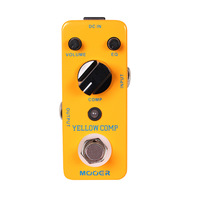 YELLOW COMP PEDAL MOOER YELLOW COMP Optical Compressor Pedal sound with smooth attack and decay,further more