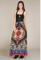 Bohemia skirt Women's Printed Maxi Skirt Tropical pattern free shipping