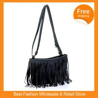 Free Shipping 10/lots 2014 Hot Sale Handbags Small Fashion Fringed Shoulder Bag Diagonal  Casual Handbags Three Color