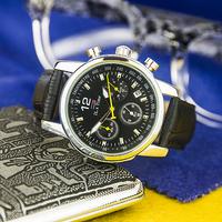 2015 new fashion Business Quartz luxury watch Chronograph en sport Watches Military Watches Men Leather Strap army wristwatch