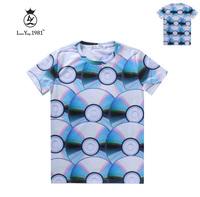 [Magic] free shipping women's new cotton t-shirt short sleeve casual tshirt whole clothing CD print 3d t shirt LY243