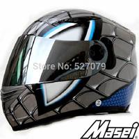 Helmet Motorcycle Full Face Masei 830 SPIDERMAN Helmet DOT in GRAY