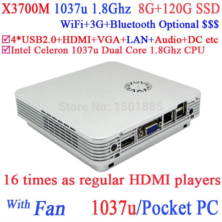 2015 new product mini pc,portable linux mini pc 12v with intel 1037u dual core 1.8GHz 8G RAM 120G SSD(China (Mainland))