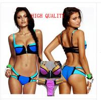 ladies seafolly push up bathing suit triangl bikini brazilian brasileiro swimsuit biquini vintage zipper bikinis swimwear women