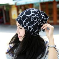 Women Hat Fashion Beanie Letter Hat Women Alphabet Beanies Winter cotton Hats Casual Cap Hat Headband Neckerchief Thick Regular
