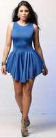 free shipping!2015womens dress European style irregular hem sleeveless dress