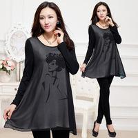 NEW women Large size fashion dress large size women fat  dress  fat cotton dress for women