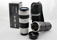 60PCS/LOT Cup 1:1 Camera 70-200mm L Camera Lens Mug Coffee Cup Caniam  C Series Lens Thermos Mug/Cup 400ml Black/White