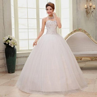 free shipping new hot fashion girl crystal princess bridal dress sexy lace up apparel the style formal wedding dresses