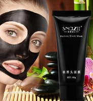 AFY suction Black mask deep cleansing face mask Tearing style resist oily skin strawberry nose Acne remover black mud masks 60g