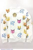 Fashion Black 3D Emoji Print Sweatshirt  LC25343