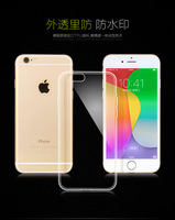 1PCS Free Shipping Soft clear back cover for Iphone6 plus Cheap transparent TPU phone case shell skin for Iphone6 5.5 inch