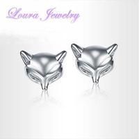 Hot Genuine TST 925 sterling silver cute little Fox ears nailed women stud earrings Fashion Classic