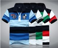 2014 fashion summer men's clothing Shark brand short sleeve t-shirt cotton paul shirts 1063