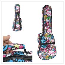 "Durable & Waterproof Canvas Colorful Cartoon Ukulele Soft Bag suitable for 21"" soprano 23"" concert  Soft Gig Bags Ukulele Cases(China (Mainland))"