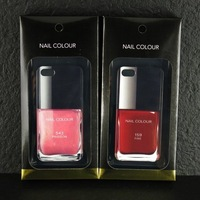 2014 new Gilr's Luxury Brand Colorful Nail Polish Oil CC Perfume Bottle Case cover for iphone 5 5s 6 6 plus with opp bag