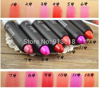 12 Colors High Quality Moisture Lip Pigment Makeup 3.5g Lipstick Pen Orange Purple Rose Red Cosmetics Pencil