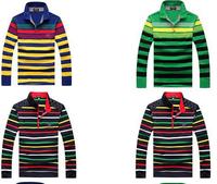 2014 fashion Fall and Winter men's striped clothing Shark brand long sleeve t-shirt cotton paul shirts A857