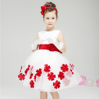 Zoo Party baby girl princess party evening dress European brand children's clothing stitching wedding dresses for child girls