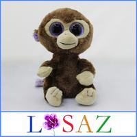 SIZE 15CM One Piece Soft Baby Toy Kids Brinquedos Purple Flash Eyes Monkey Plush Toys For Children Novelty Juguetes
