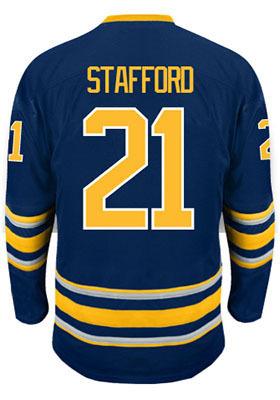 Size Small-4XL,5xl#21 Drew Stafford Jersey blue white Buffalo Embroidery Logo customized Hockey Jersey Free Shipping(China (Mainland))