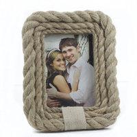 Jasmine love frame table Creative hemp rope in restoring ancient ways European style living room 6 inch frame.