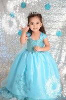 Fashion cosplay elsa Anna dress princess costume Frozen dress lace girls dresses summer beatiful kids child baby clothing