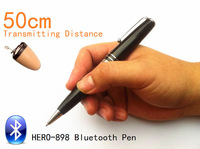 2014 NEW Bluetooth Pen HERO-898 With Spy Earpiece 50-60cm Long Transmitting Distance Can Work during Writing