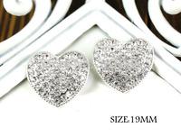 Free shipping,300PCS/LOT Metal Shank Inset Rhinestone Hearts Sew On Decoration Valentines Accessories,QYQ04