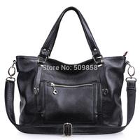 2015New arrival handbag shoulderbag motocycle bag real leather bag women bag