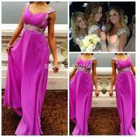 2014 New Arrival Topsale Vestido de renda 2015 Sexy Bling Bling Beads Crystal Long Party Evening Dresses Real Vestido Longo
