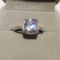2014 princess crown rings for womenDiamond ring 2 carat certified doods wedding silver jewelry J003