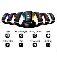 New Smart Design OLED Bluetooth 3.0 Bracelet Watch with Call ID Display / Answer/Dial/SMS Sync/Anti-lost/Music Player E0019