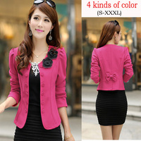 2014 Fashion Women Spring Suit Blazers Female Blazer Korean Plus Size Candy Color Leisure Style Blazers And Jackets Coats 20