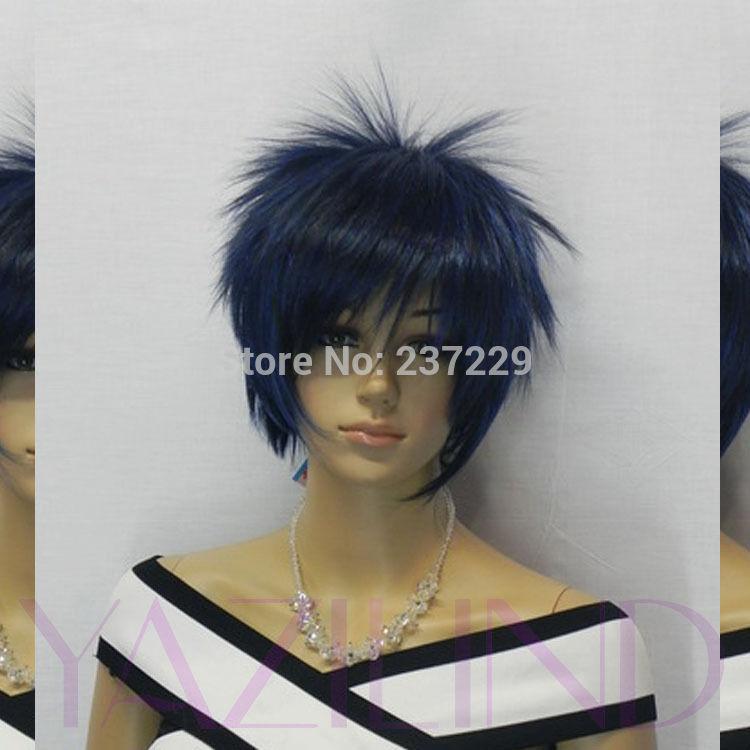 Mens Spiky Wigs Hair Full Wig Mens Unisex
