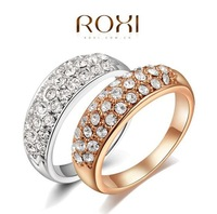 Valentine's day Gift  ROXI clear crystal 18K Gold /platinum plated women ring fashion jewelry Genuine Austrian Crystals