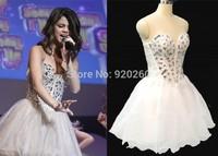 Sweetheart Shining Crystal  Evening Dresses 2015 Crystal Tarik Ediz Dress Vestido de fiesta Fashionable Prom dresses 2014