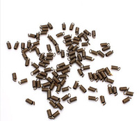 200pcs/lot fitting 3mm leather antique bronze/gunblack/rhodium End fastener Connector for Jewelry DIY Clasp