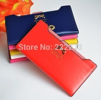 Wallet women leather 2014 New Korean Bow purse Long wallets ladies clutch bag fashion high quality purse wt074