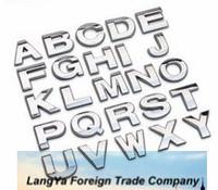 26pcs/lot 3D English letters stickers for car body DIY decoration ABCDEFGHIJKLMNOPQRSTUVWXYZ