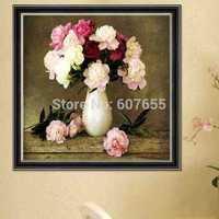 DIY Diamond Painting Flower Vase Round Diamonds Embroidery Painting Home Decoration Needlework Europe Design
