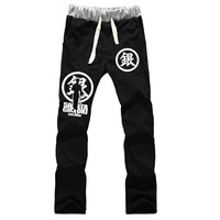 NEW Style GINTAMA Sakata Gintoki Cosplay Trousers male&female cotton casual loose thick warm sport pants for adult boys&girls