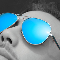 2015 New Oculos Metal Sunglasses 10 Version Dazzle Colour Sun Glasses Men Women Brand Designer Sports Oculos 3025