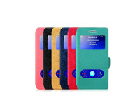 New Good quantity PU leather Flip Cover Case For Huawei Ascend G6 P6 Mini phone , free shipping